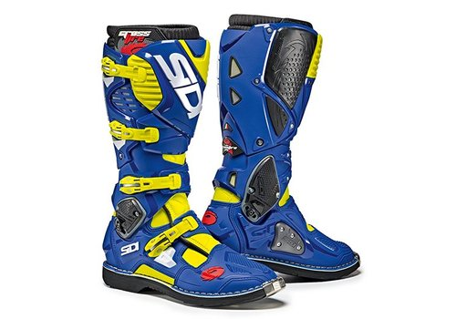 Sidi Crossfire 3 Boots Blue Yellow Fluo