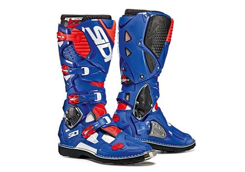 Sidi Crossfire 3 Boots Blue White Red Fluo