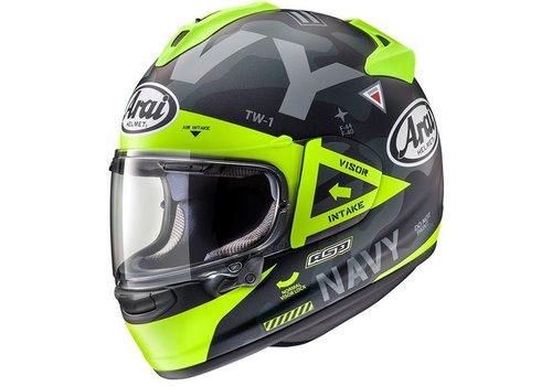 Arai Chaser-X Navy Helm Zwart Geel