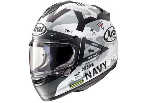 Arai Chaser-X Navy Helm Weiß