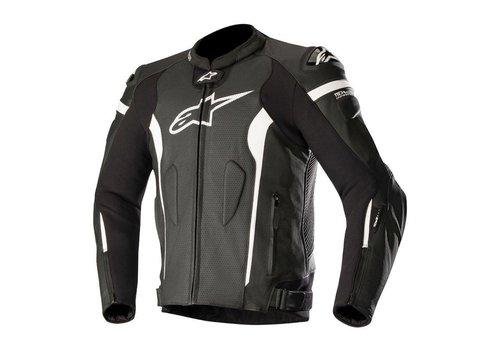 Alpinestars Missile Leather Jacket Tech-Air Black White