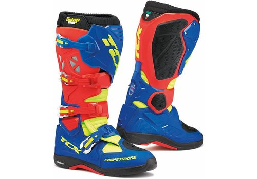 TCX Comp Evo 2 Michelin Boots Red Blue Yellow