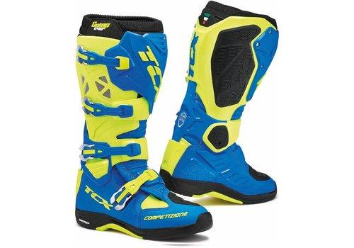 TCX Comp Evo 2 Michelin Boots Blue Yellow Fluo