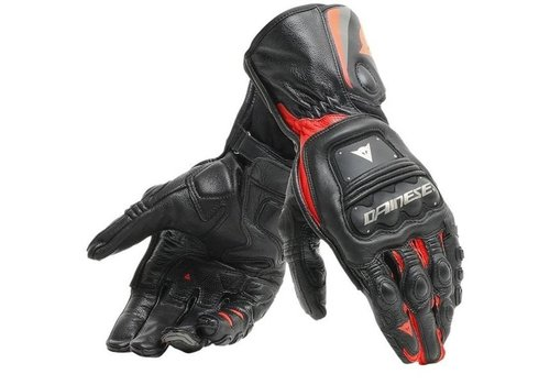 Dainese Steel-Pro Gloves Black Fluo Red