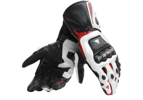 Dainese Steel-Pro Motorhandschoenen Zwart Wit Rood