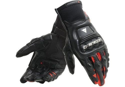 Dainese Steel-Pro In Gloves Black Fluo Red