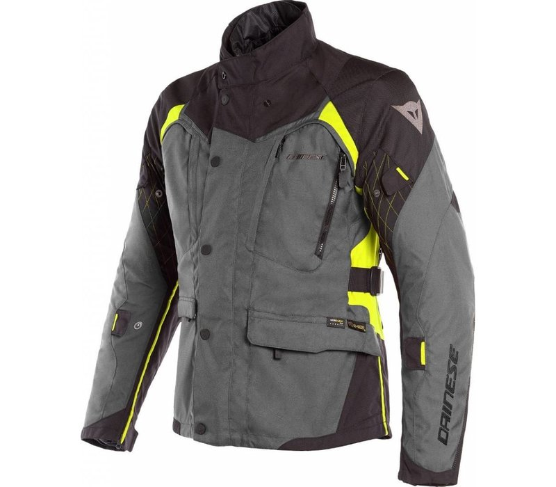 Buy Dainese X-Tourer D-Dry Jacket Black Yellow Fluo? Free Shipping!
