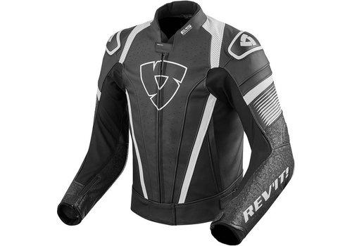 Revit Spitfire Leather Jacket Black White