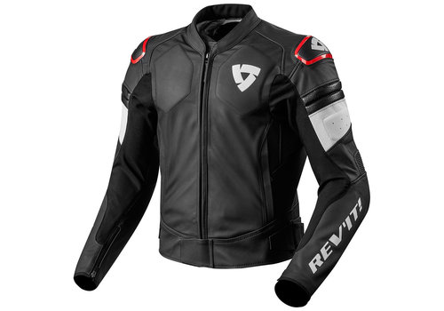 Revit Akira Leather Jacket Black Red