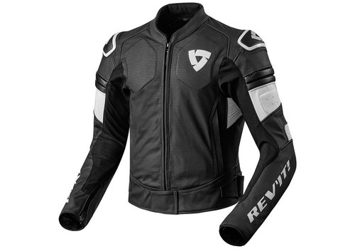 Revit Akira Air Leather Jacket Black White