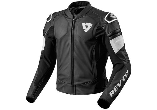 Revit Akira Leather Jacket Black White
