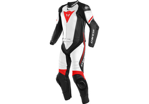 Dainese Laguna Seca 4 Two Piece Leather Suit Black White