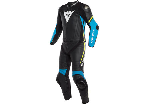 Dainese Laguna Seca 4 Two Piece Leather Suit Black Blue