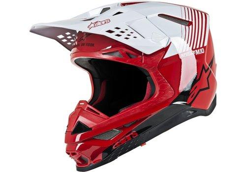 Alpinestars Supertech S-M10 Dyno Casco Rosso Bianca