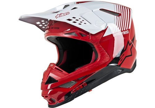 Alpinestars Supertech S-M10 Dyno Helmet Red White