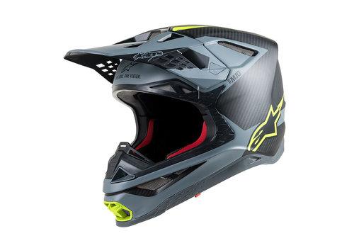 Alpinestars Supertech S-M10 Meta Helm Zwart Geel
