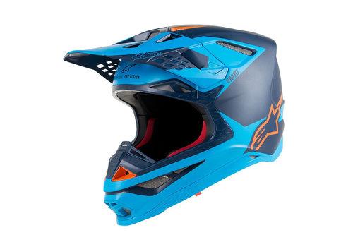 Alpinestars Supertech S-M10 Meta Helm Zwart Blauw