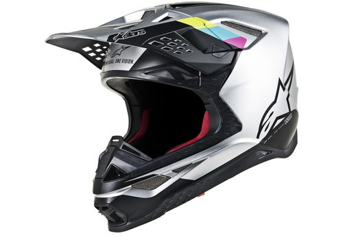Alpinestars Supertech S-M8 Contact Helmet Silver Black