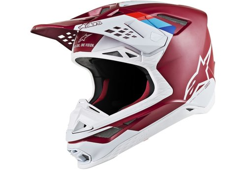 Alpinestars Supertech S-M8 Contact Helm Rot Weiß