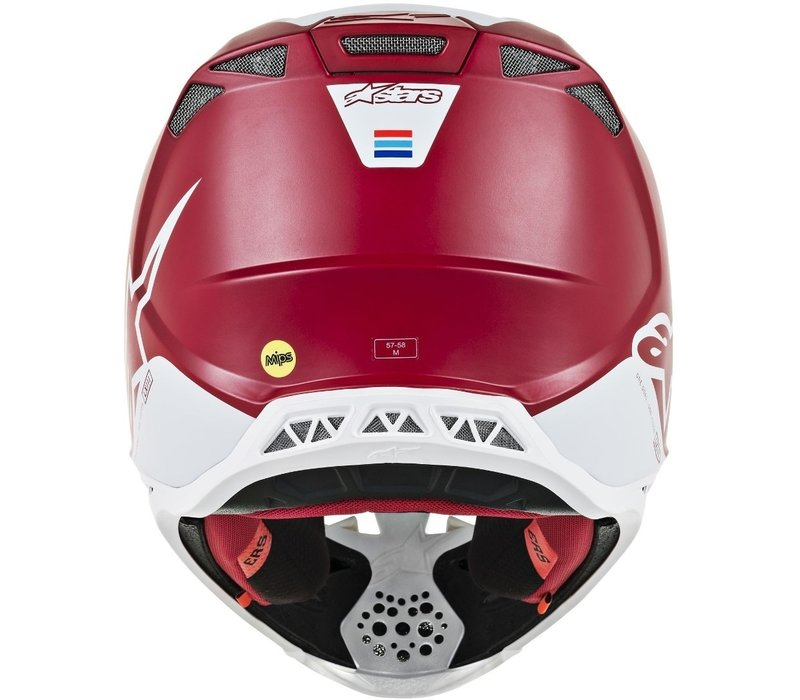 Buy Alpinestars Supertech S-M8 Contact Helmet Red White? Free Additional Jersey!
