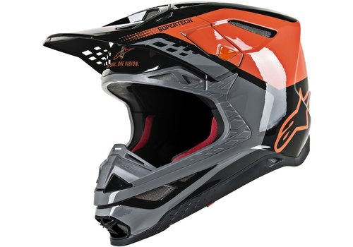 Alpinestars Supertech S-M8 Triple Helmet Black Orange