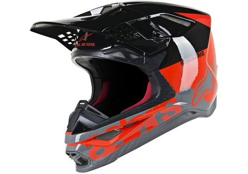 Alpinestars Supertech S-M8 Radium Helm Zwart Rood