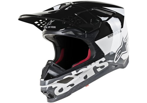 Alpinestars Supertech S-M8 Radium шлем черный Белое