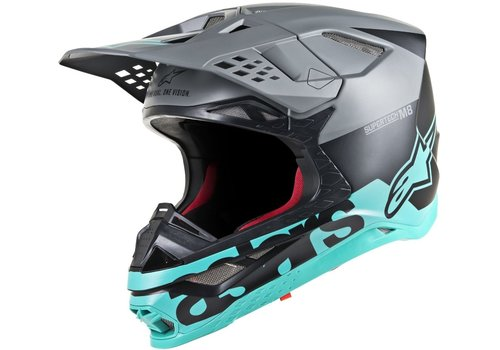 Alpinestars Supertech S-M8 Radium Helm Matt Zwart Blauw