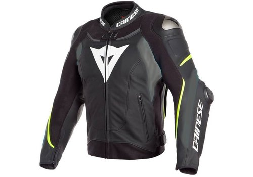 Dainese Super Speed 3 Leather Jacket Black Grey Fluo Yellow