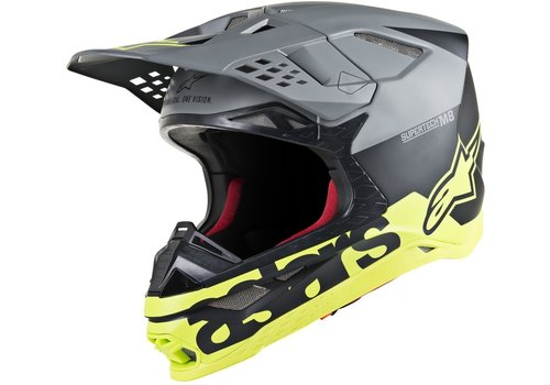 Alpinestars Supertech S-M8 Radium Helmet Matt Black Yellow