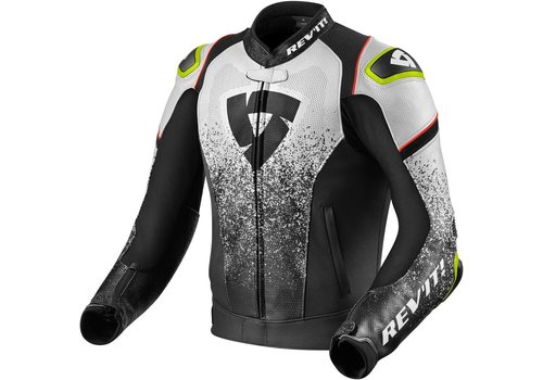 Revit Quantum Leather Jacket Black White