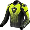 Revit Buy Revit Quantum Leather Jacket Black Fluo Yellow? Free Shipping!