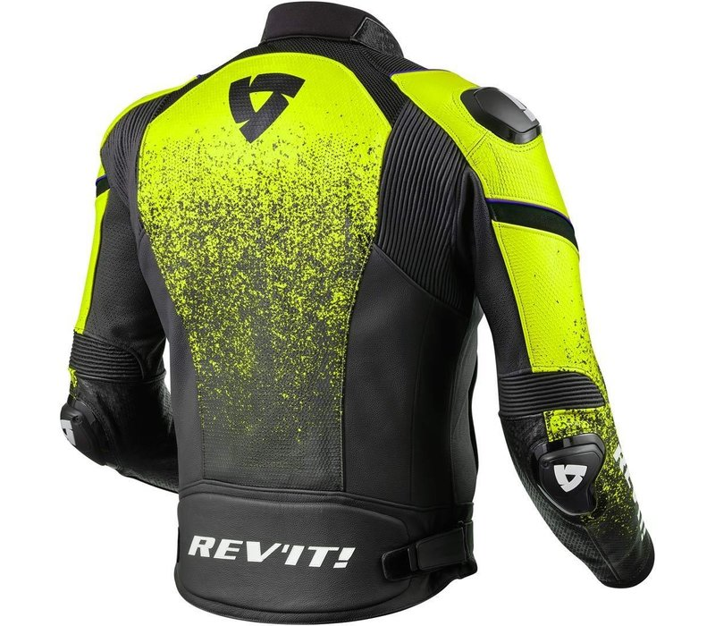 Buy Revit Quantum Leather Jacket Black Fluo Yellow? Free Shipping!