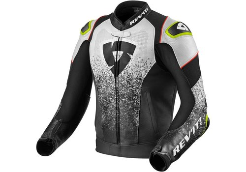 Revit Quantum Air Leather Jacket Black White