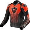 Revit Buy Revit Quantum Air Leather Jacket Black Fluo Red? Free Shipping!