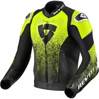 Buy Revit Quantum Air Leather Jacket Black Fluo Yellow? Free Shipping!