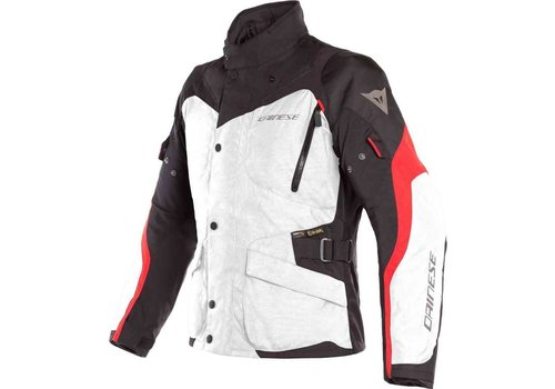 Dainese Giacca Tempest 2 D-Dry Blanco Negro Rojo
