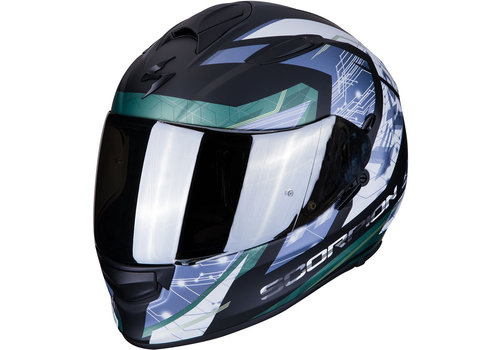 Scorpion Exo 510 Air Clarus Casco Mate Nero Argento