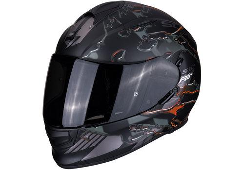 Scorpion Exo 510 Air Likid Helm Zwart Matt Oranje