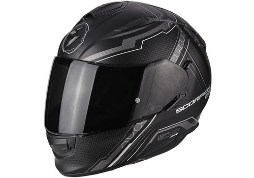 Scorpion Exo 510 Air Sync Casco Mate Nero Argento