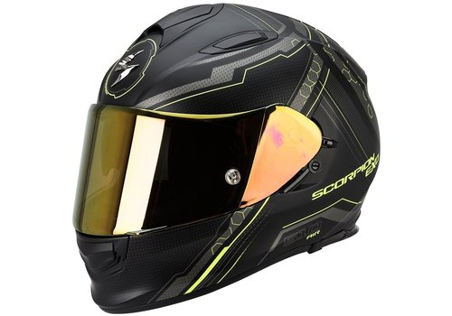 Scorpion Exo 510 Air Sync Casco Mate Nero Fluo