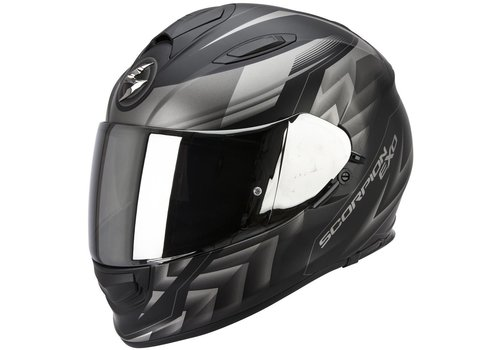 Scorpion Exo 510 Air Scale Casco Mate Nero Argento