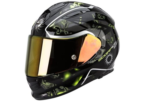 Scorpion Exo 510 Air Xena Casco Nero Giallo