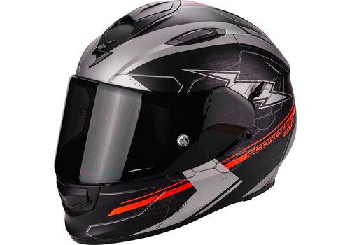 Scorpion Exo 510 Air Cross Helm Schwarz Matt Silber