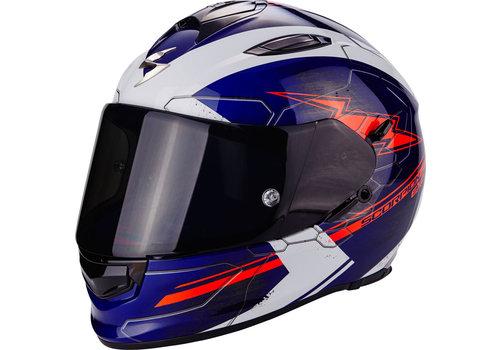 Scorpion Exo 510 Air Cross Helm Blauw Rood Wit