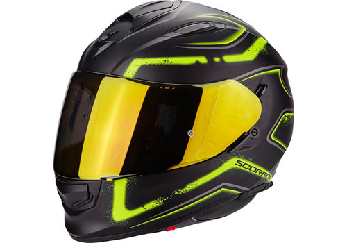 Scorpion Exo 510 Air Radium Casco Nero Mate Giallo