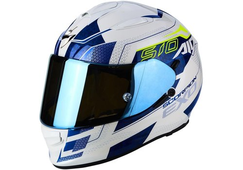 Scorpion Exo 510 Air Galva Helm Wit Blauw