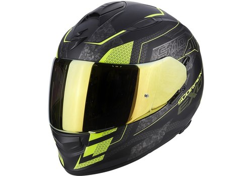Scorpion Exo 510 Air Galva Casco Nero Mate Giallo