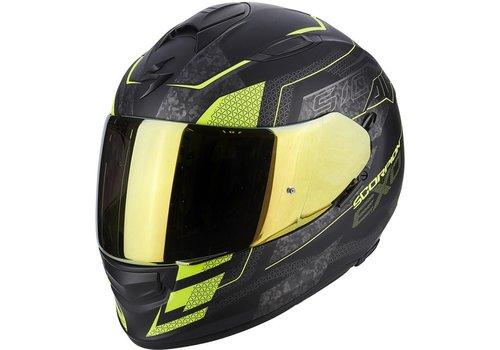 Scorpion Exo 510 Air Galva Helm Zwart Matt Geel