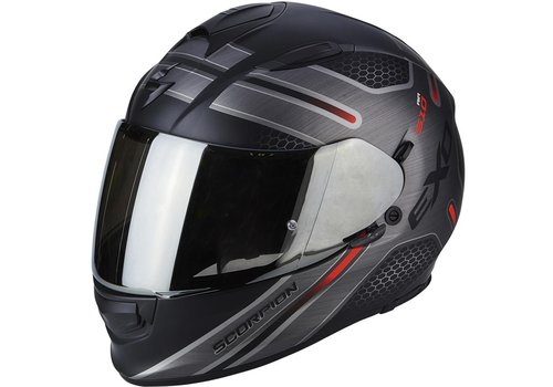 Scorpion Exo 510 Air Route Helm Zwart Matt Rood